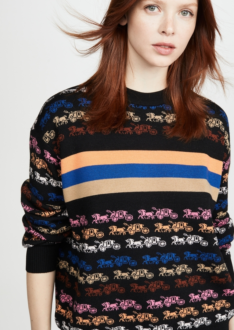 Coach 1941 Rainbow Horse and Carriage Crew Neck Sweater