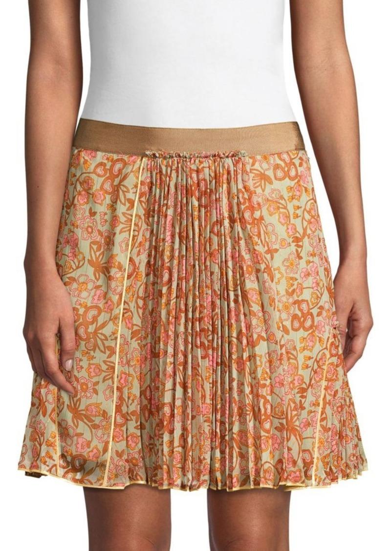 Coach 1941 Retro Floral Print Pleated Skirt