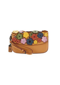 Coach Small Tea Rose Wristlet Clutch Bag