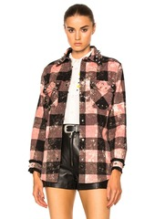 Coach 1941 Studded Plaid Top
