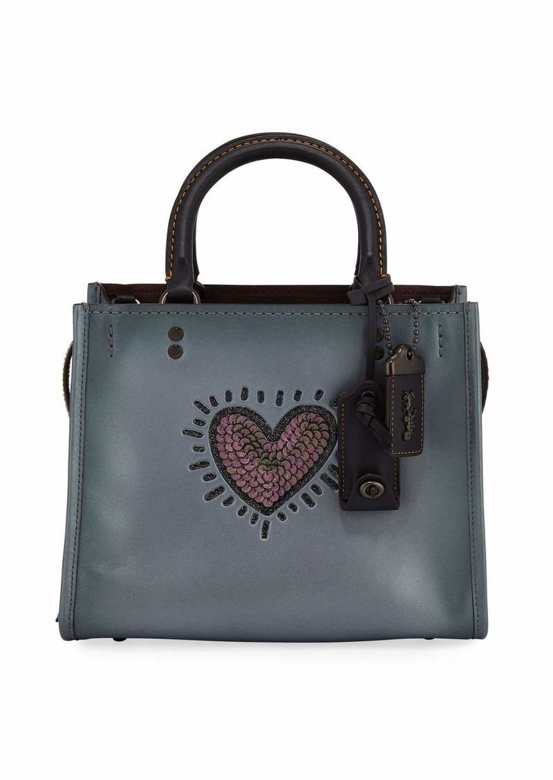 Coach X Keith Haring Rogue 25 Bag With Sequined Heart