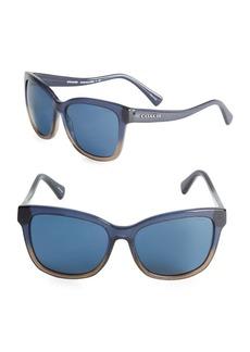 COACH 54MM Two-Toned Wayfarer Sunglasses