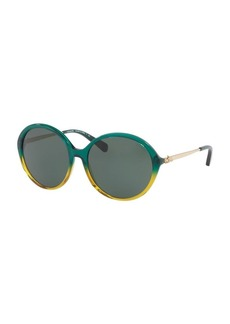 COACH 56MM Ombre Round Sunglasses