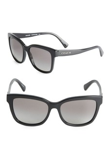 COACH 56mm Tinted Wayfarer Sunglasses