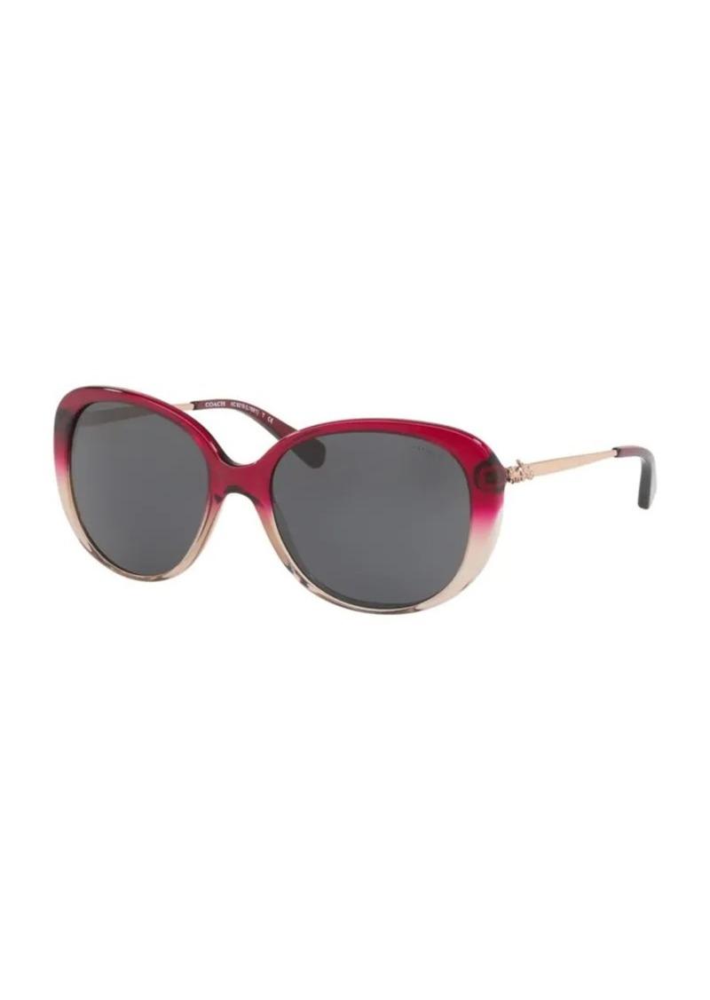 c7ad44ecb54a Coach COACH 57MM Ombre Round Sunglasses | Sunglasses