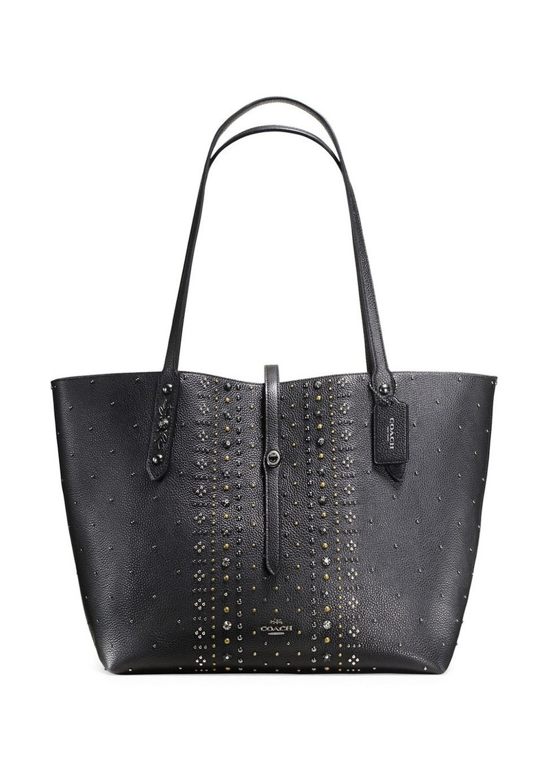 COACH Bandana Pebble Leather Rivets Market Tote