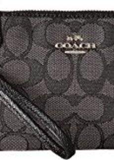 COACH Box Program Signature Jacquard Small Wristlet