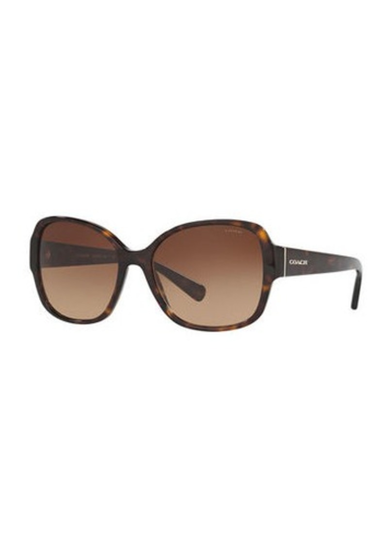 Coach Butterfly Sunglasses w/ Speckled Transparent Arms