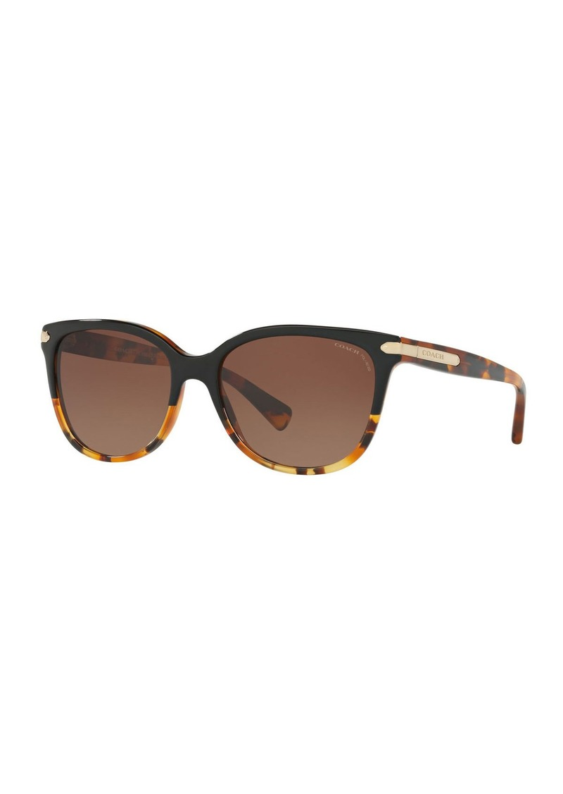 Coach Cat-Eye Sunglasses w/ Logo Plate Temples