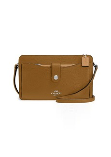 COACH Colorblocked Leather Convertible Clutch