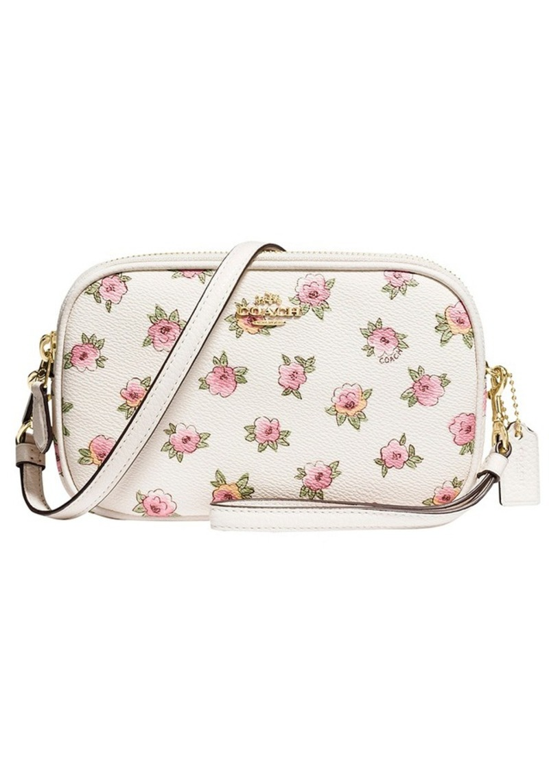 80bca92293a24 ... new zealand coach crossbody clutch in flower patch print coated canvas  00e55 f2988