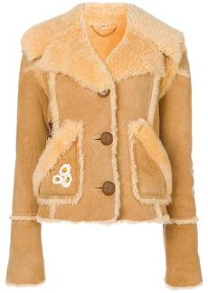 Coach eagle raggedy shearling jacket