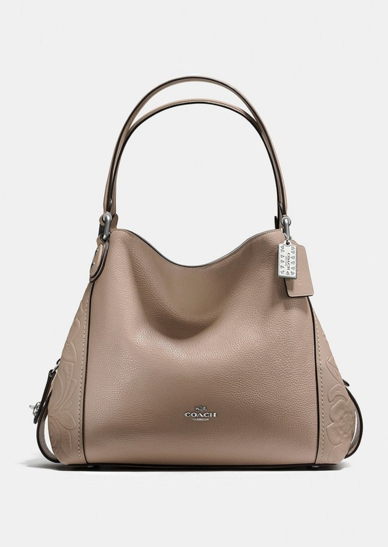 sale coach coach edie shoulder bag 31 with tea rose tooling rh shopittome com coach leather shoulder bag sale coach turnlock edie shoulder bag sale