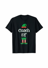 Coach Elf Group Matching Family Funny Christmas T-Shirt