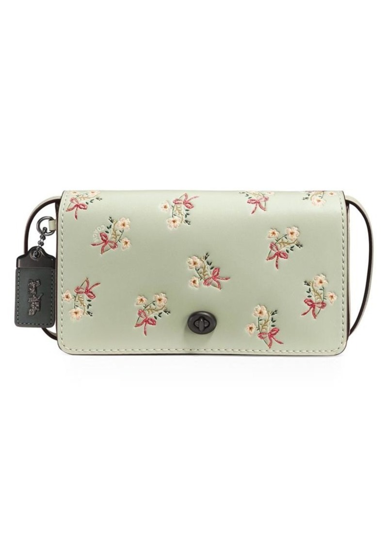 hot sales a great variety of models unparalleled 1941 Floral Bow-Print Dinky Leather Crossbody Bag