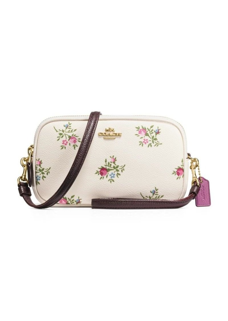 unique style online shop official site Floral Canvas Convertible Crossbody