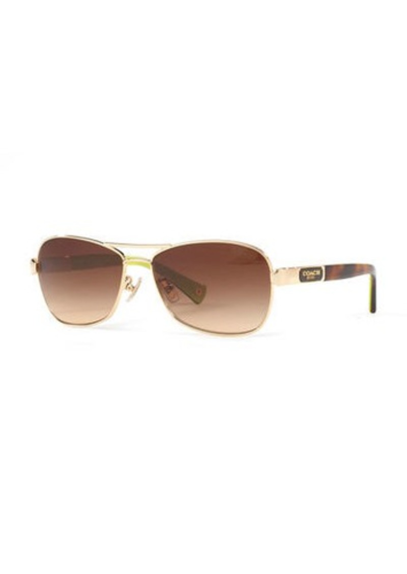 Coach Gradient Aviator Sunglasses