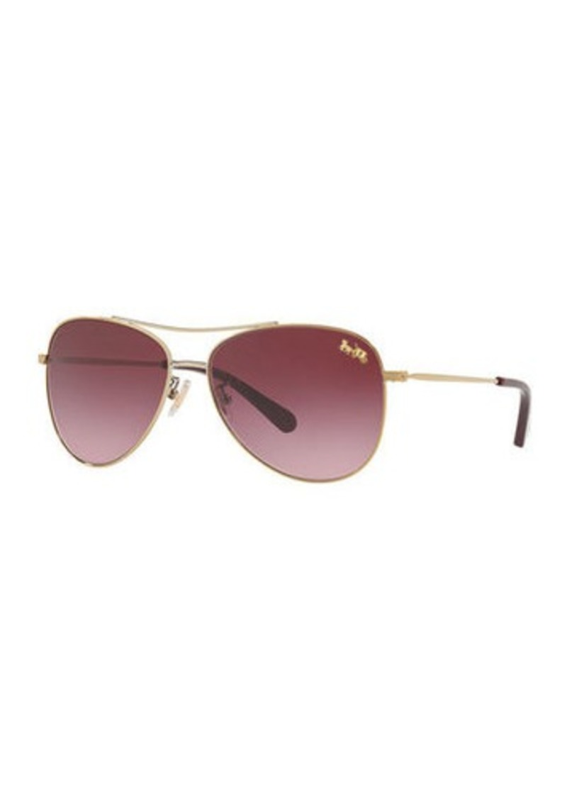 Coach Gradient Metal Aviator Sunglasses