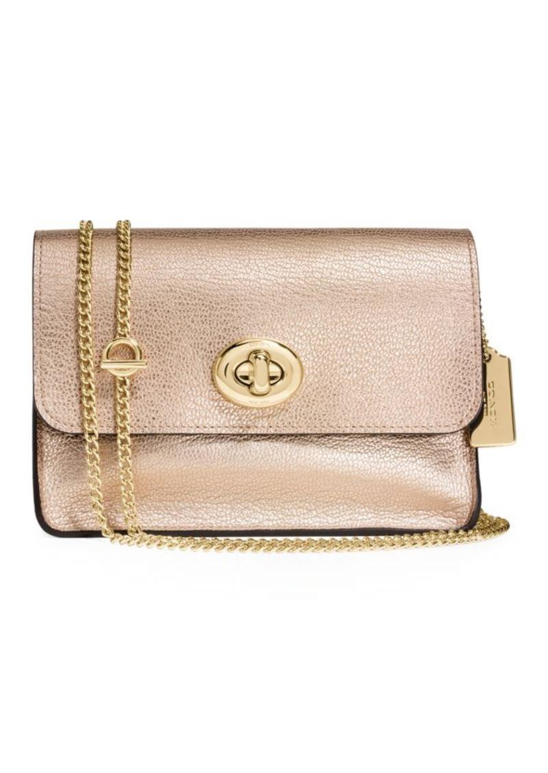 Coach COACH Leather Chain-Strap Shoulder Bag  46d5ec84bc4d5