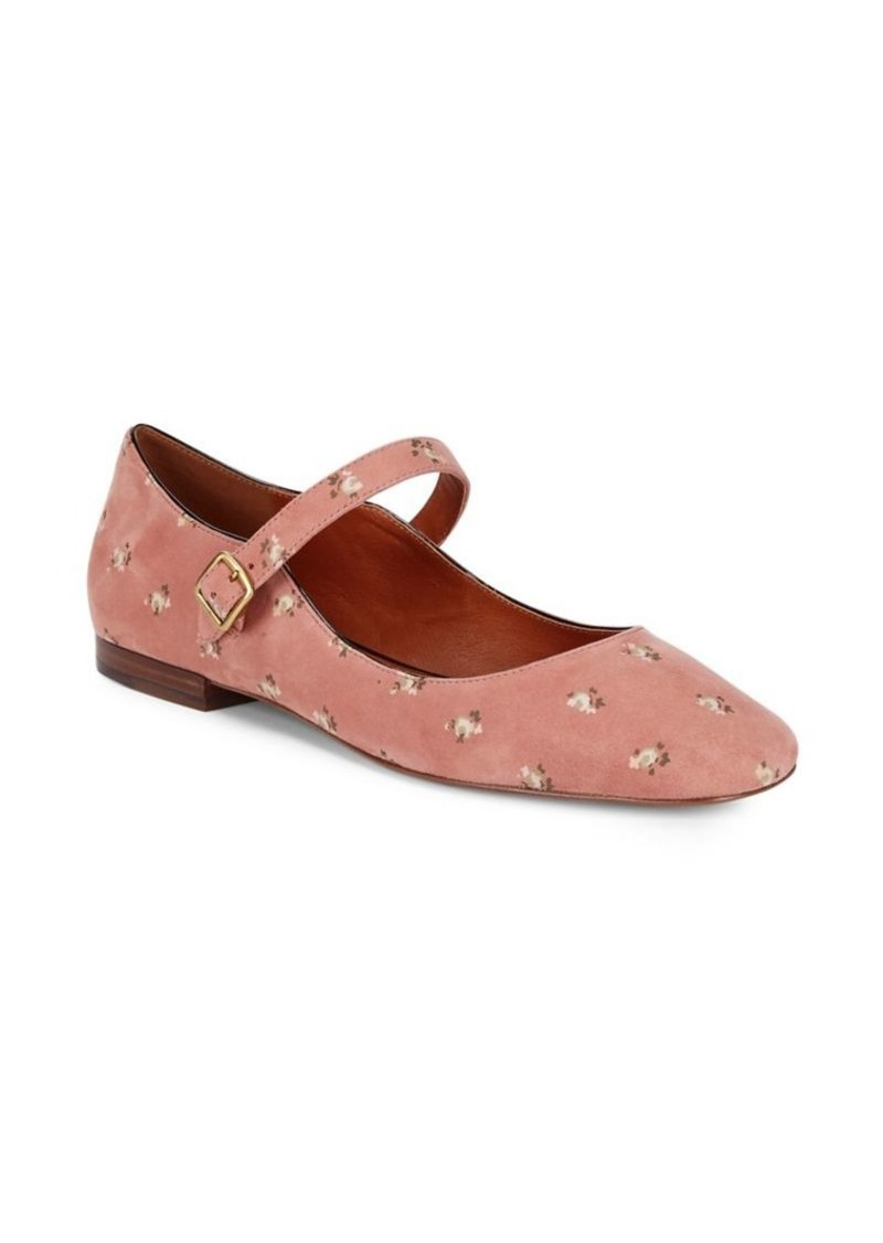 Coach COACH Mary Jane Floral Suede Flats Now  112.50