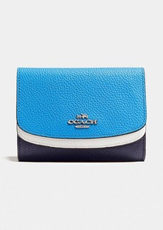 COACH MEDIUM DOUBLE FLAP WALLET IN COLORBLOCK LEATHER