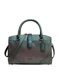 COACH Mercer 24 Hologram Leather Satchel