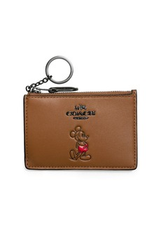 COACH Mickey Mouse Mini Calf Leather Pouch