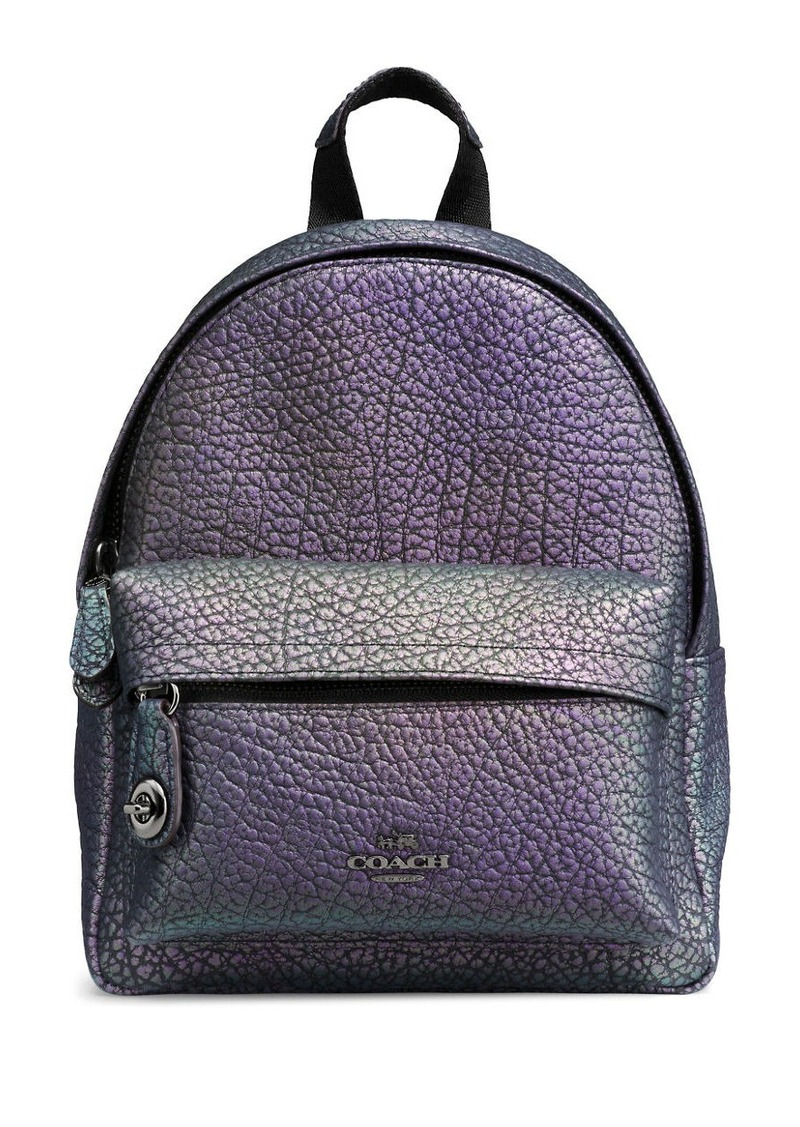 Coach Mini Campus Hologram Leather Backpack