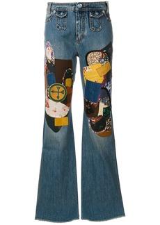 Coach patchwork bootcut jeans - Blue
