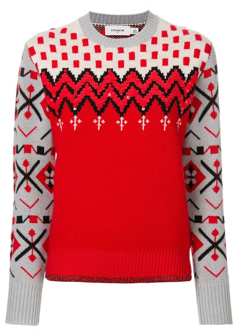 Coach patterned jumper