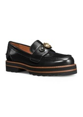COACH Polished Leather Loafers