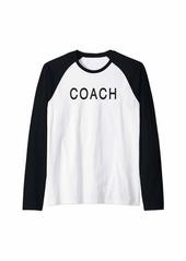 Coach Raglan Baseball Tee