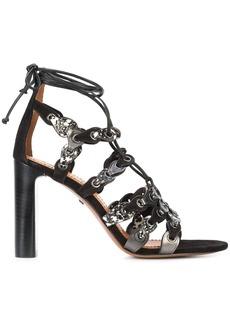 Coach signature link lace-up sandals