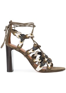Coach signature link lace-up sandals - Green