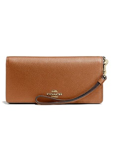 COACH Slim Pebbled Leather Wallet