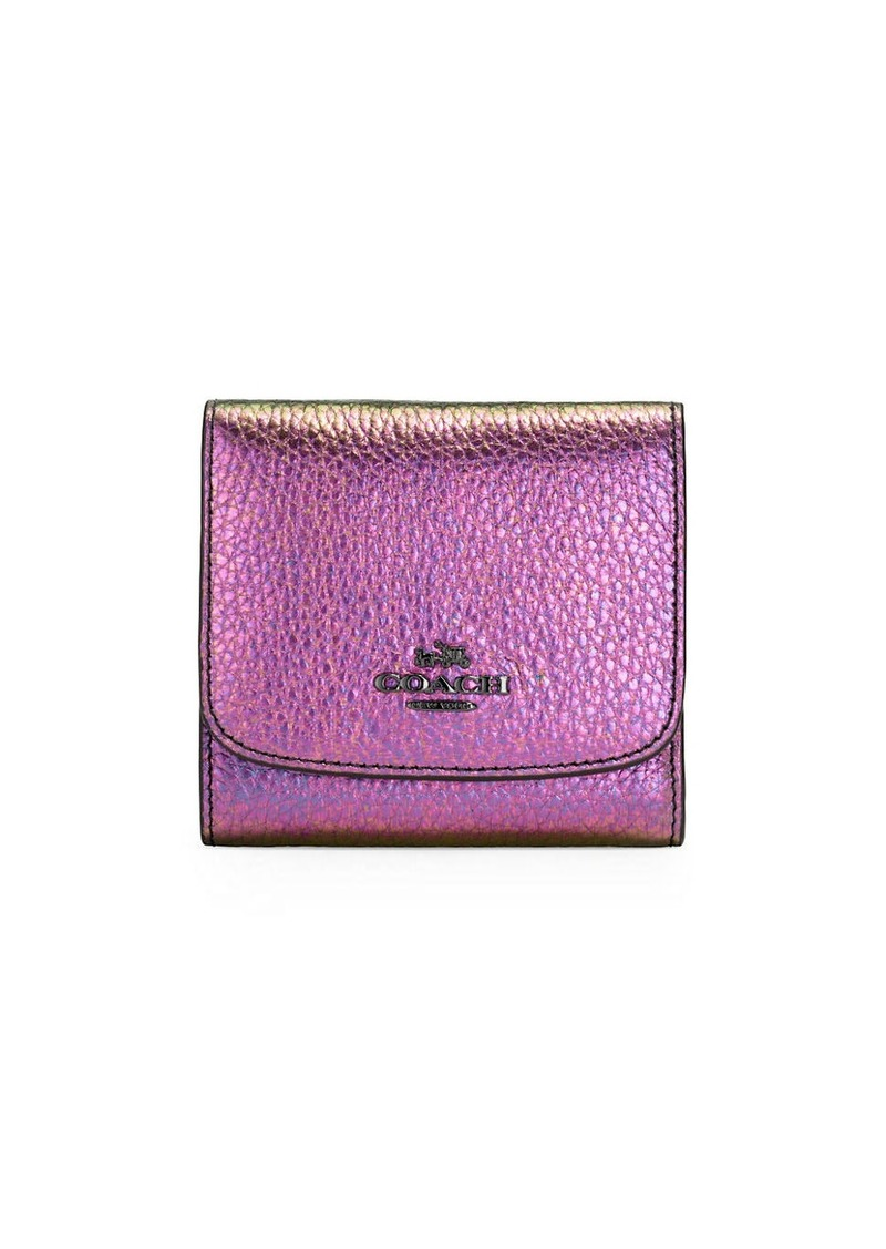 COACH Small Hologram Leather Wallet