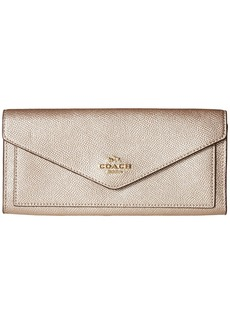 Coach Soft Wallet in Metallic Leather