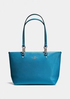 COACH SOPHIA SMALL TOTE IN POLISHED PEBBLE LEATHER