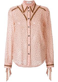 Coach star print blouse