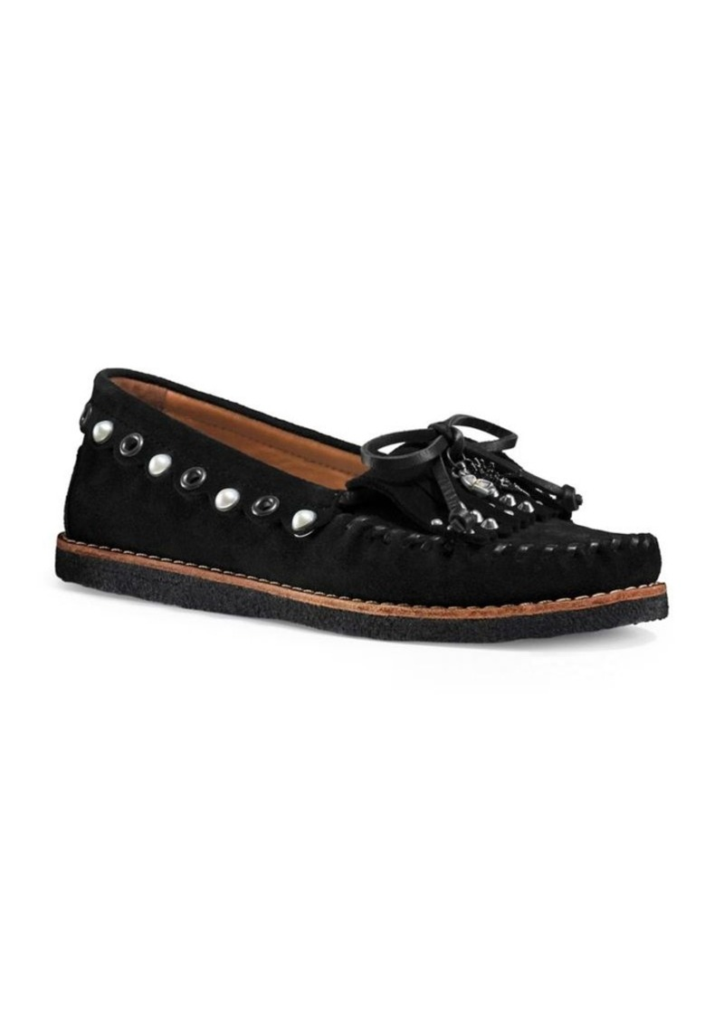 b3cad7e8596 Coach COACH Studded Leather Loafers
