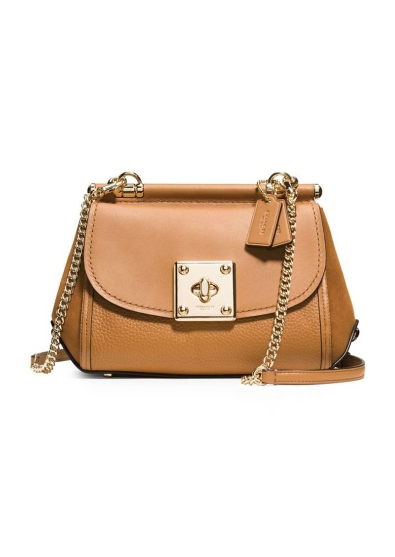Coach Suede And Leather Crossbody