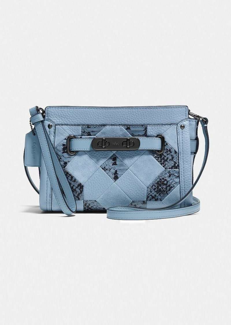 0eddc5e0866 Coach COACH SWAGGER WRISTLET IN PATCHWORK EXOTIC EMBOSSED LEATHER ...