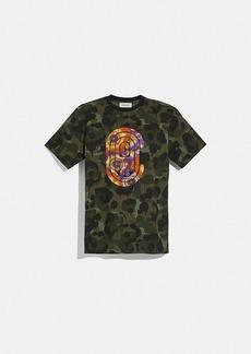 coach t-shirt with kaffe fassett print