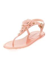 Coach Tea Rose Jelly Flat Sandals