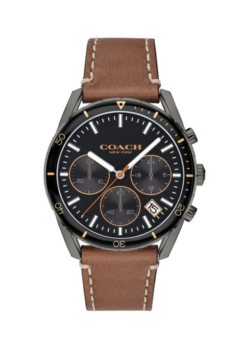 COACH Thompson Sport Leather Watch
