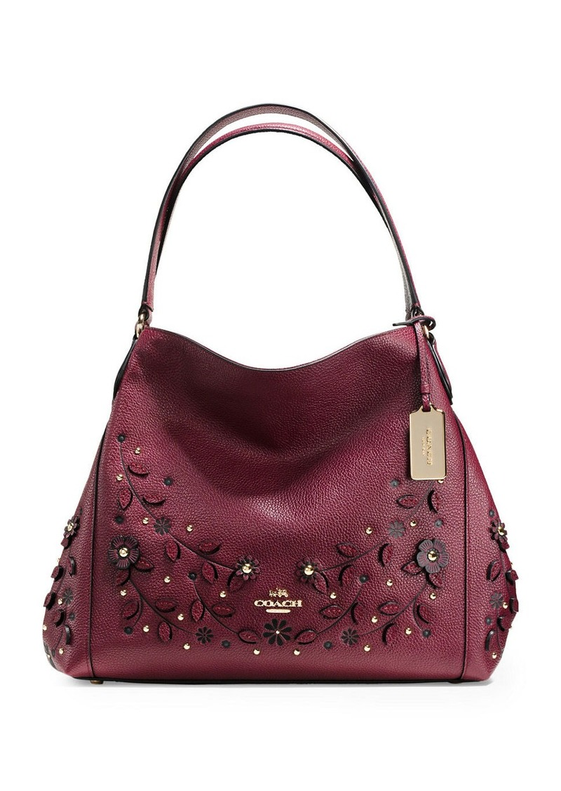 On Sale Today Coach Coach Willow Floral Edie 31 Pebble Leather Shoulder Bag