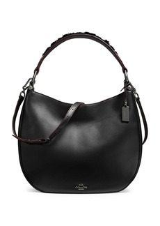 COACH Willow Floral Nomad Leather Hobo Bag