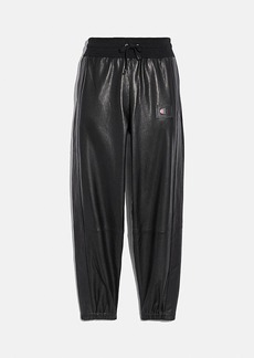 coach x champion leather joggers