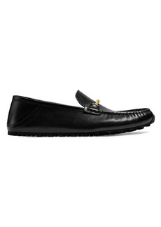 Coach Collapsible Heel Leather Loafers