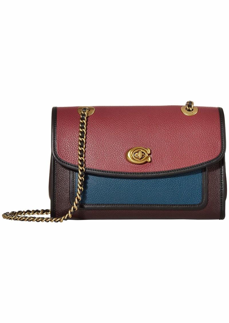 Coach Color Block Binding Soft Parker Shoulder Bag